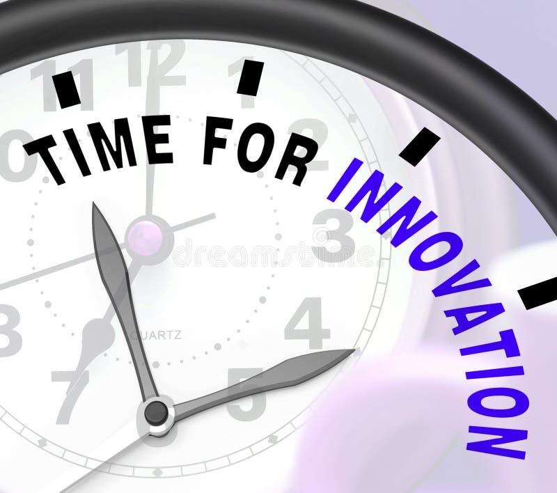 Time för innovation visar idérik utveckling och påhittighet royaltyfri illustrationer
