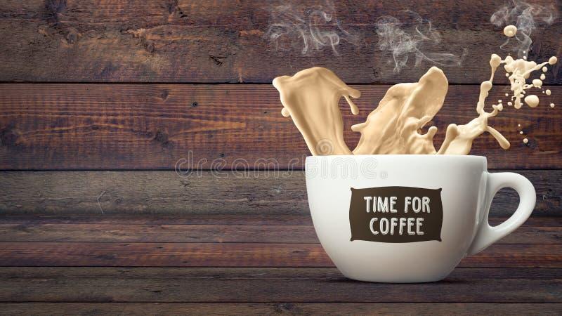 Time för kaffe arkivfoto