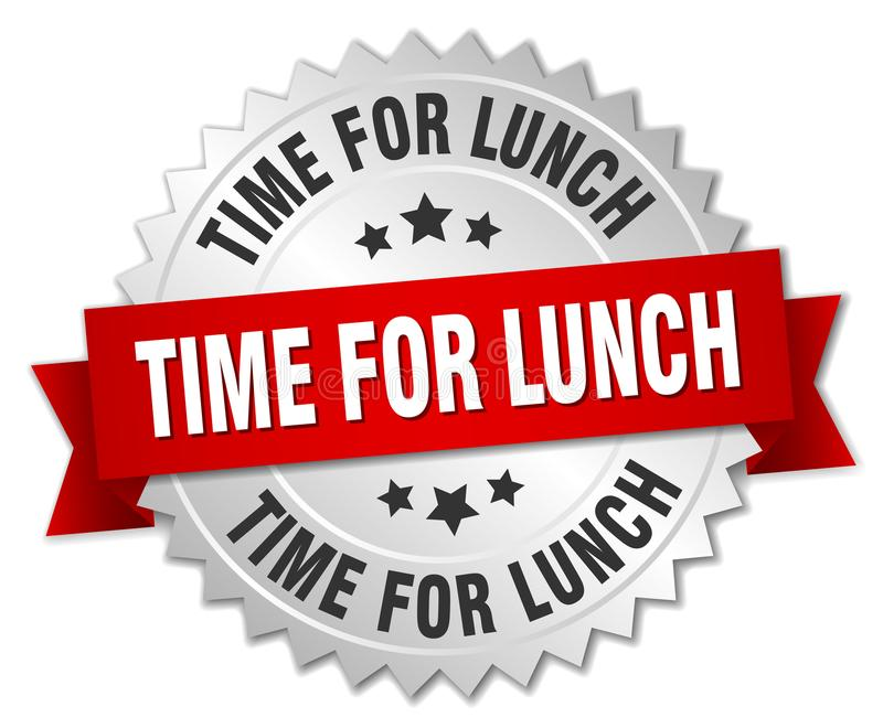 Time för lunch royaltyfri illustrationer
