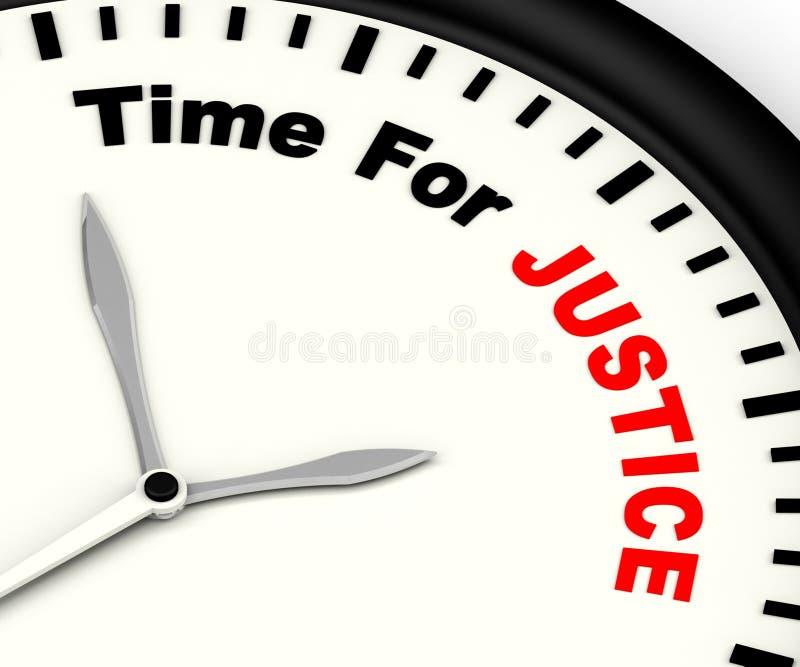 Time för rättvisa Message Showing Law och bestraffning vektor illustrationer