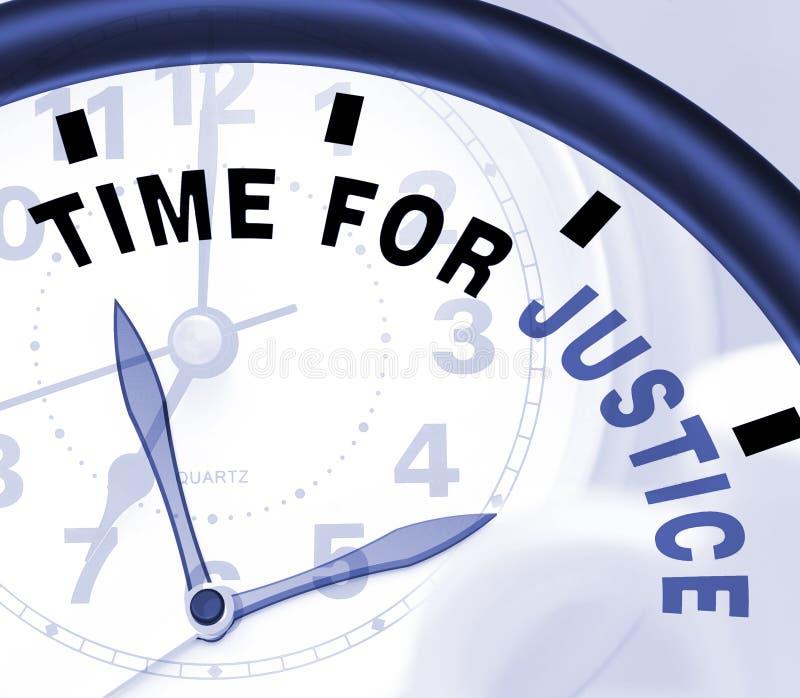 Time för rättvisameddelande visar lag och bestraffning vektor illustrationer