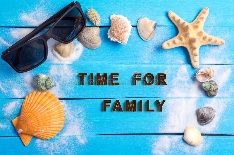Time for family with summer settings concept stock images