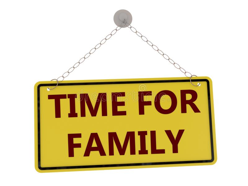 TIME FOR FAMILY sign stock illustration