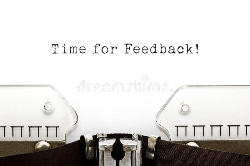 Time for Feedback Typewriter royalty free stock images