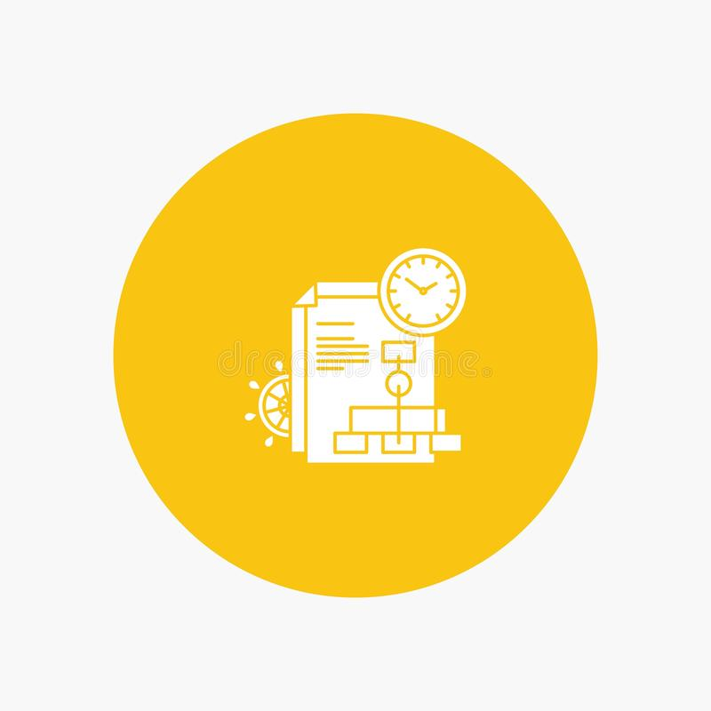 Time, File, Report, Business vector illustration