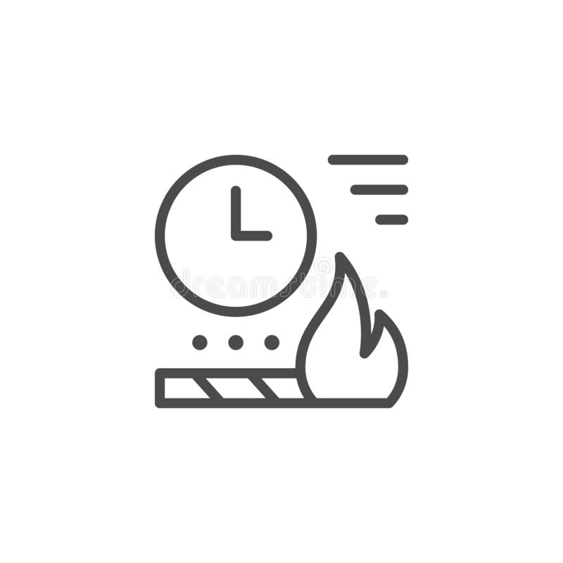 Time fireworks charge line outline icon royalty free illustration
