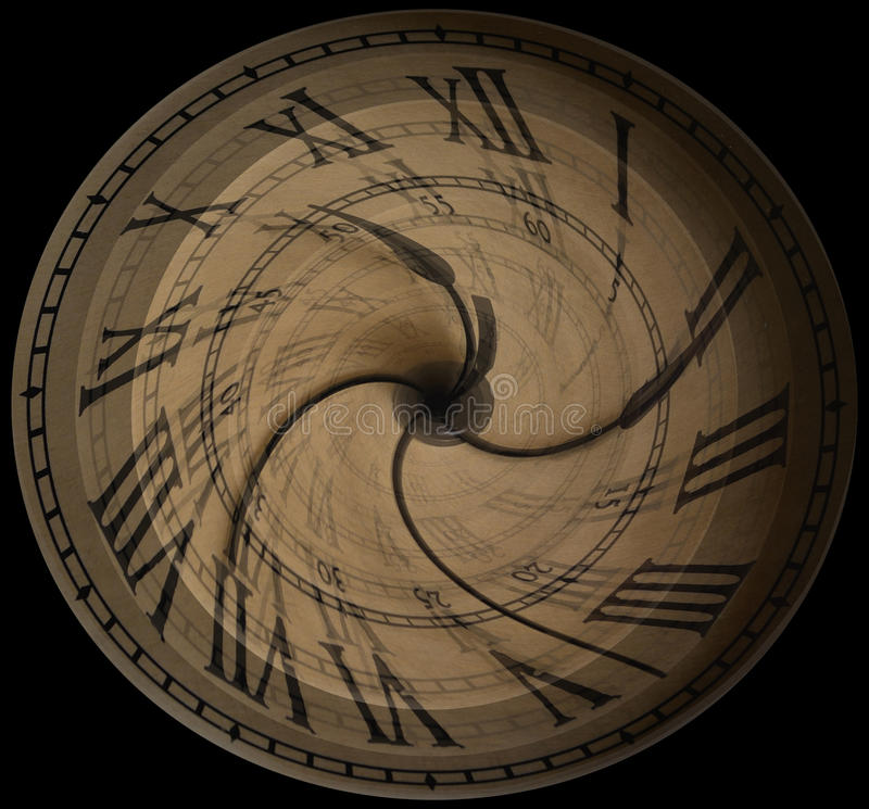 Time Flies. Concept of time in motion stock image