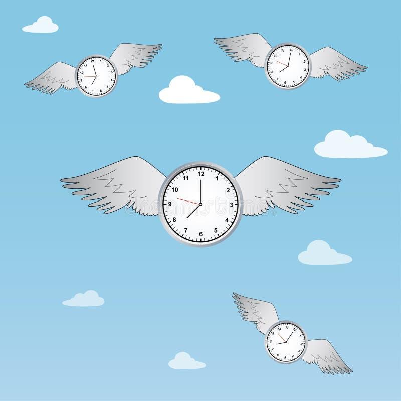 Time flies stock illustration