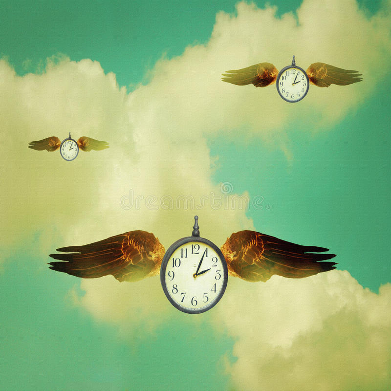 The time always flies vector illustration