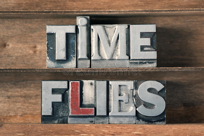 Time flies tray stock images