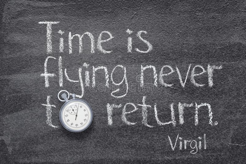 Time is flying Virgil stock photos