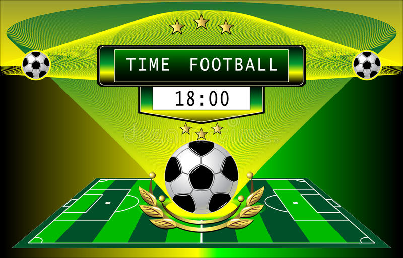 Download Time football stock vector. Image of gold, banner, stars - 24107625