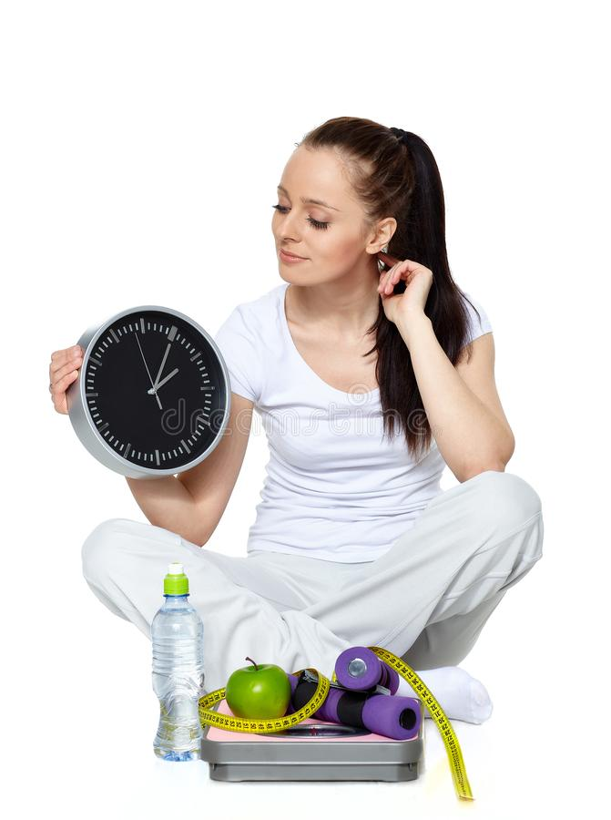 Free Time For Slimming Stock Image - 136518321