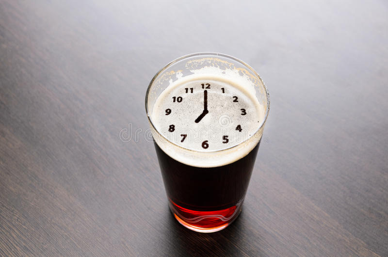 Time for fresh beer royalty free stock photo
