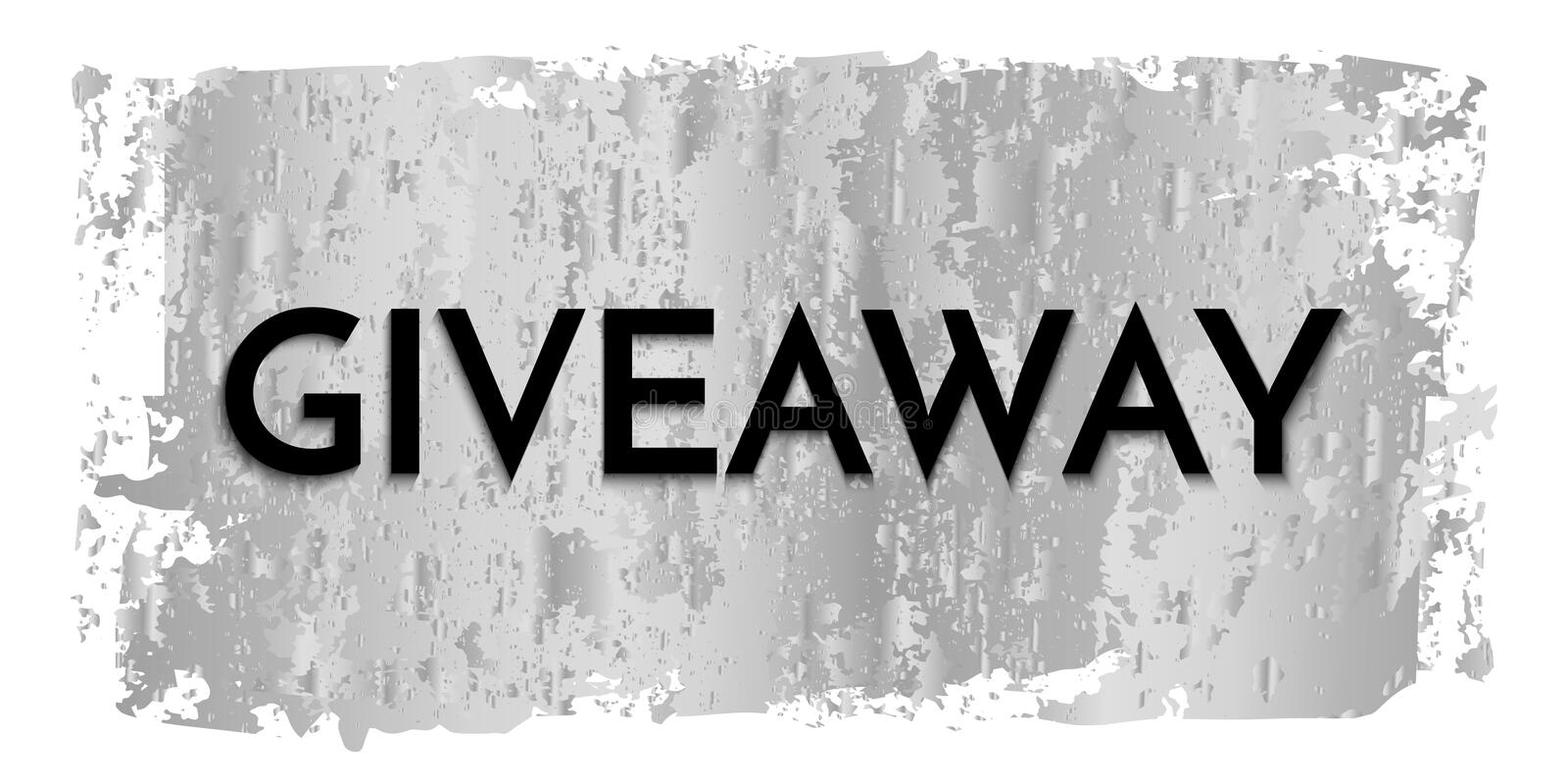 Time for a giveaway - banner template. Giveaway phrase on silver and white background. royalty free illustration