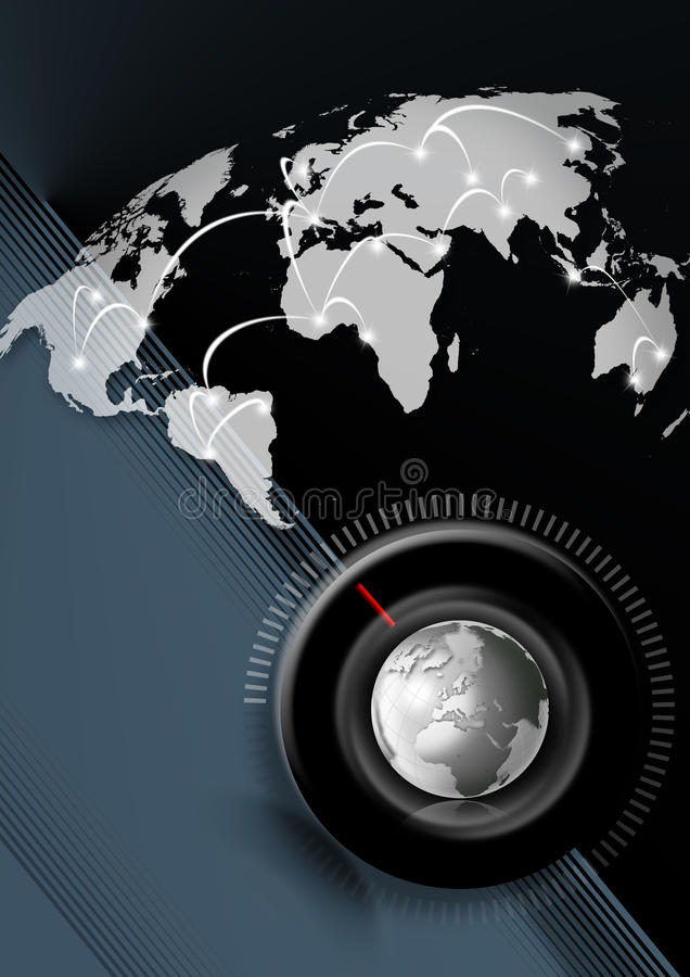 Time global business background royalty free stock images