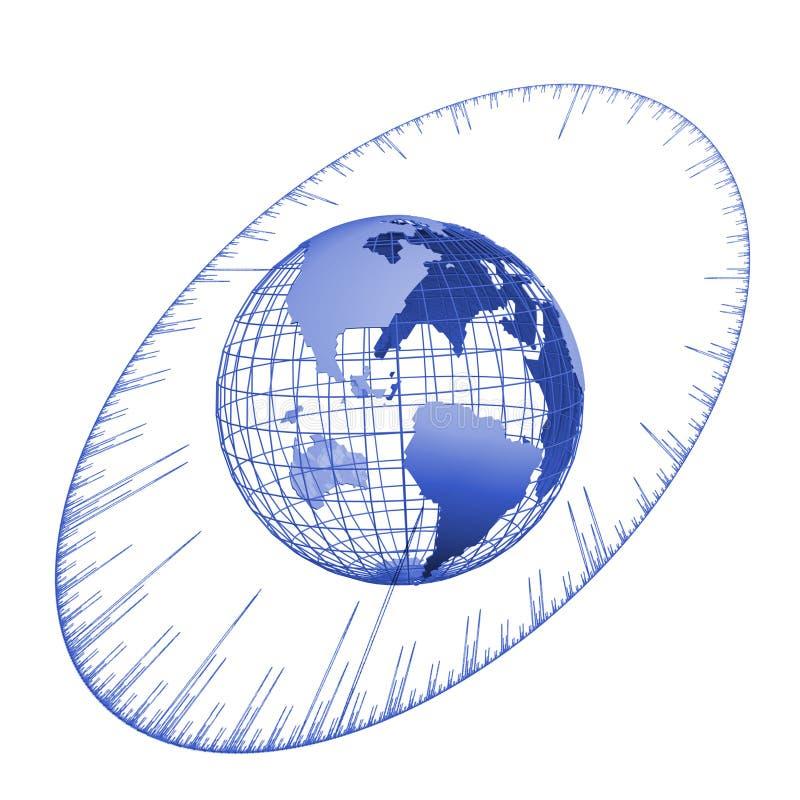 Time globe vector illustration