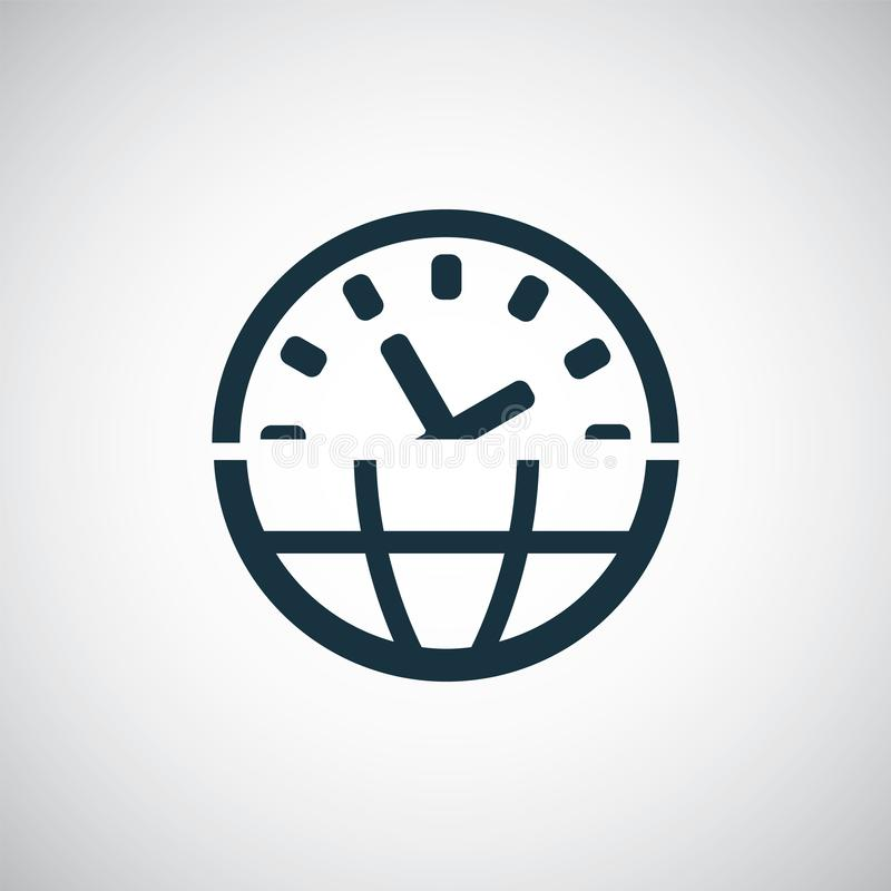 Time globe icon for web and stock illustration