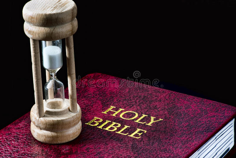 Time for the Good Book. royalty free stock photography