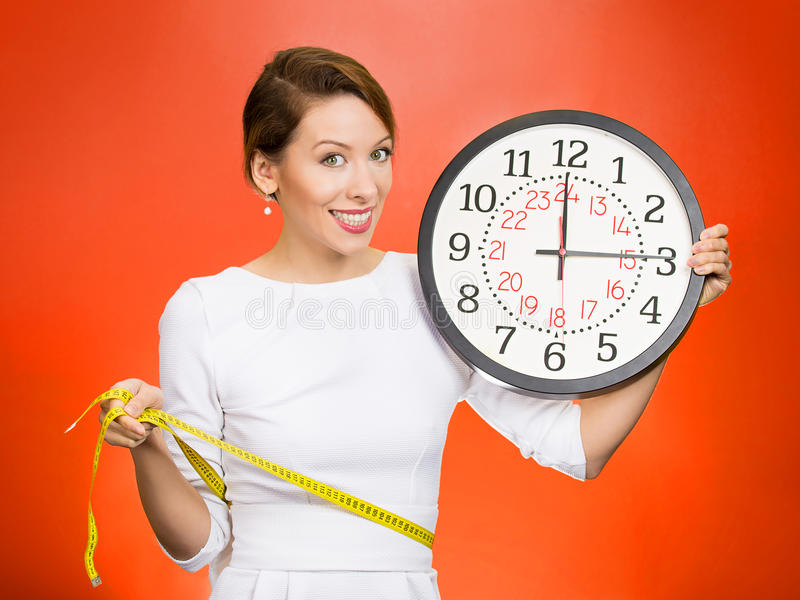 On time great fitness result. royalty free stock photos