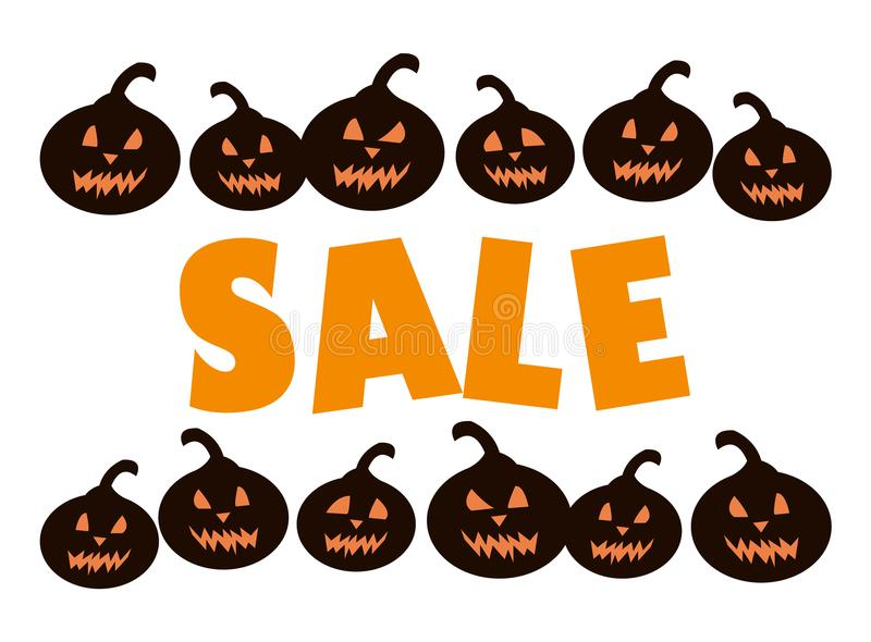 Time for halloween sale vector illustration