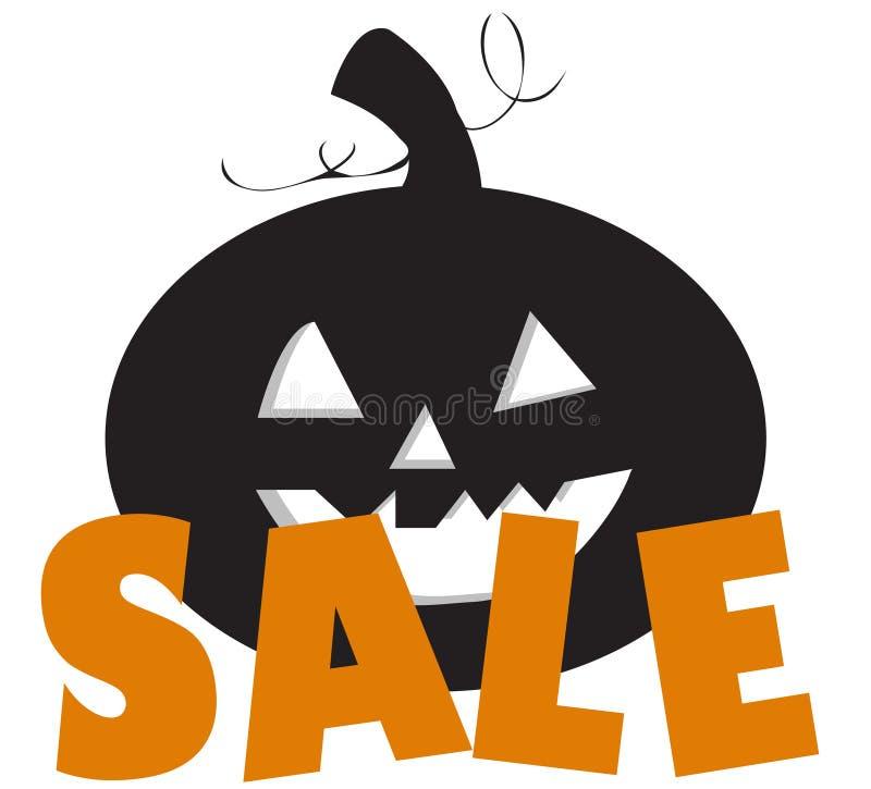 Halloween sale with pumpkin vector illustration