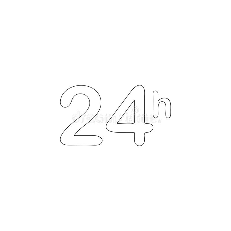 Time 24 hours. flat vector icon. Time 24 hours. simple flat vector icon illustration. outline line symbol - editable stroke stock illustration
