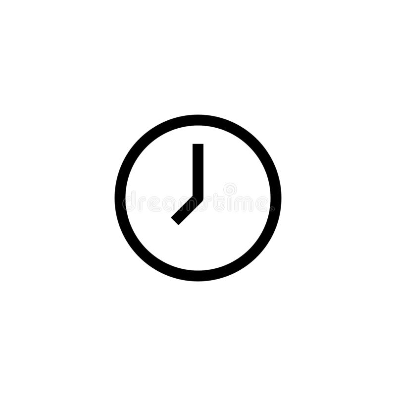 Time icon design. 8 am clock symbol. simple clean line art professional business management concept vector illustration design royalty free illustration