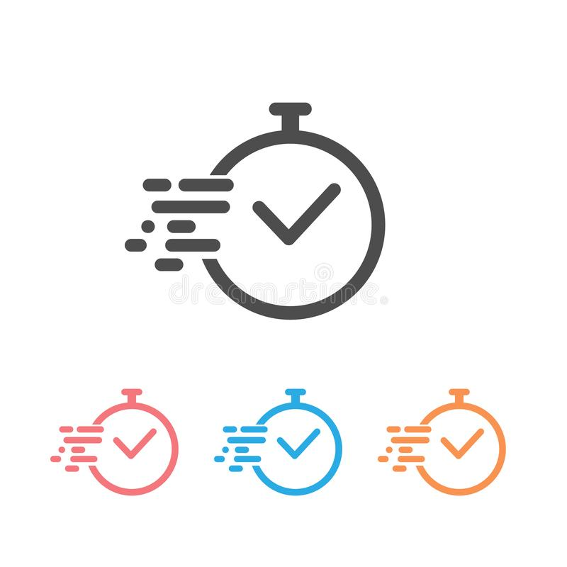 Time icon set vector. Fast time vector icon. Deadline icon vector vector illustration