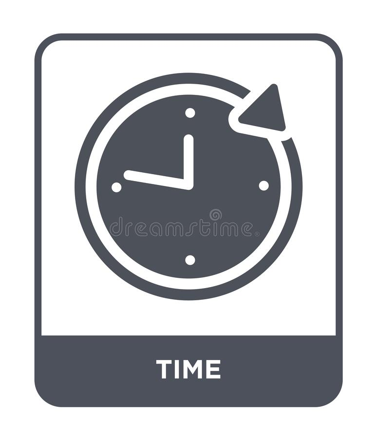 time icon in trendy design style. time icon isolated on white background. time vector icon simple and modern flat symbol for web stock illustration