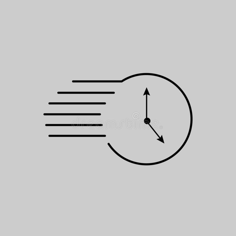 Time icon vector design stock images