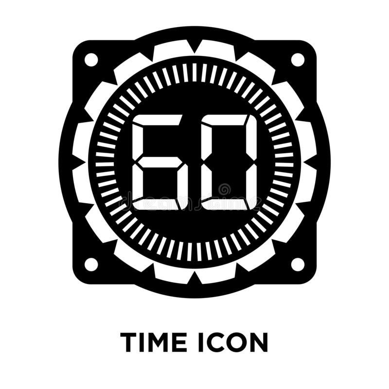 Time icon vector isolated on white background, logo concept of T. Ime sign on transparent background, filled black symbol stock illustration