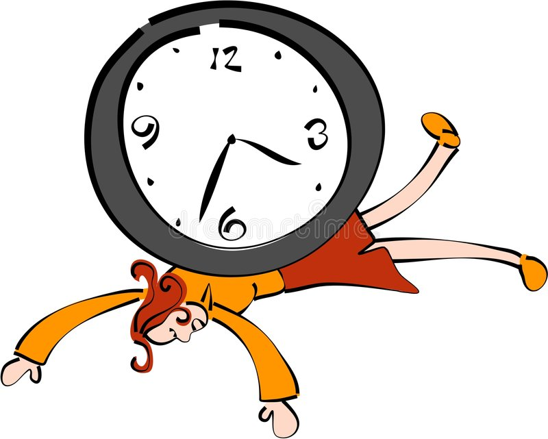 Time keeper royalty free illustration