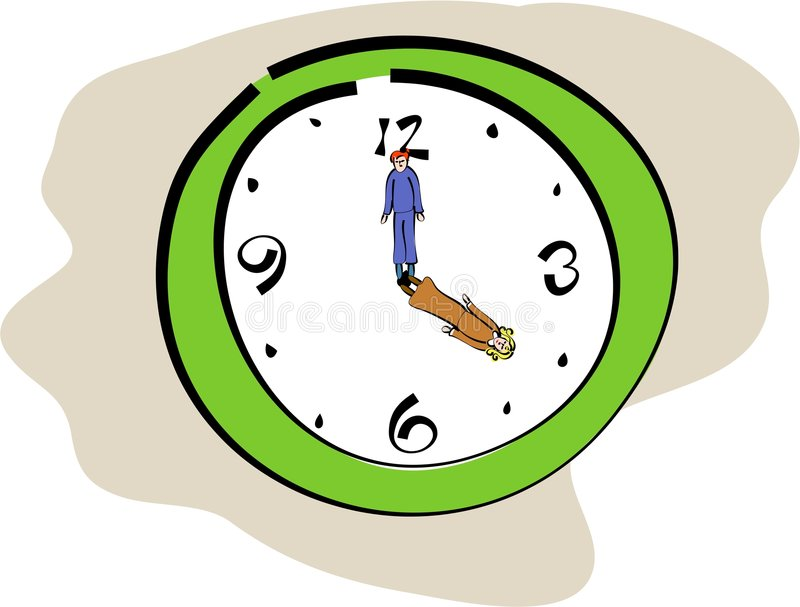 Time keepers stock illustration