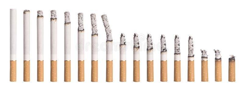 Time Lapse - Burning Cigarette Royalty Free Stock Image