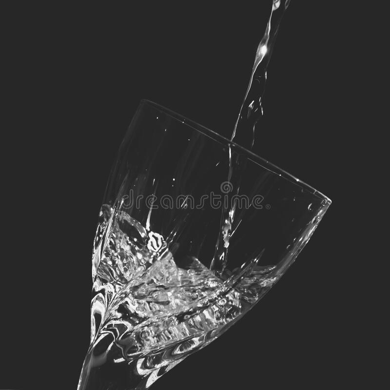 Time-lapse Clear Wine Glass With Water royalty free stock photo