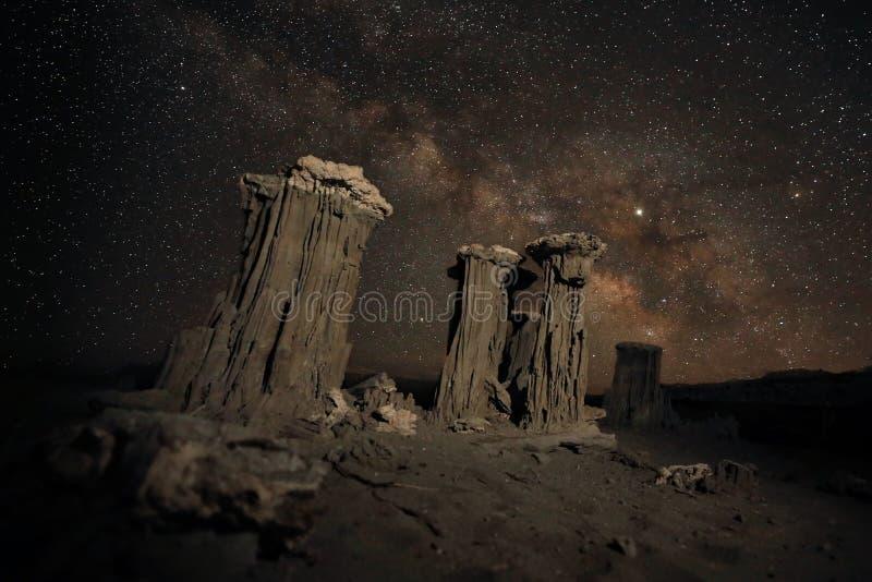Time Lapse-langes Belichtungs-Bild der Milchstraße-Galaxie lizenzfreies stockfoto