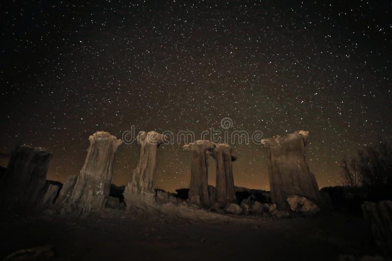 Time Lapse-langes Belichtungs-Bild der Milchstraße-Galaxie lizenzfreie stockbilder
