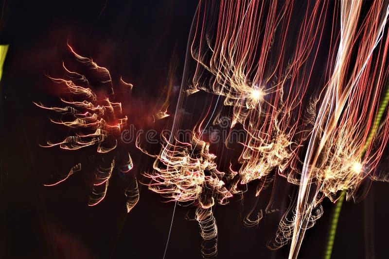 Time lapse Photo of Fireworks Celebration at night in the dark. A Time lapse Photo of Fireworks Celebration at night in the dark royalty free stock photo