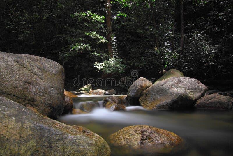 Time Lapse Photo of Mini Waterfalls royalty free stock photography