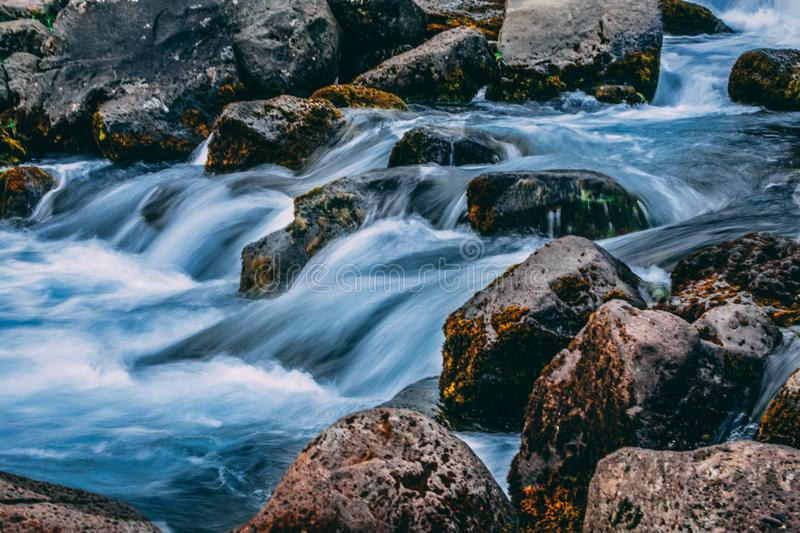 Time Lapse Photo Of River royalty free stock images