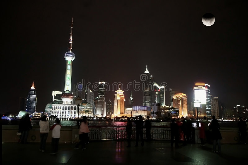 Time Lapse photo of Shanghai stock photography