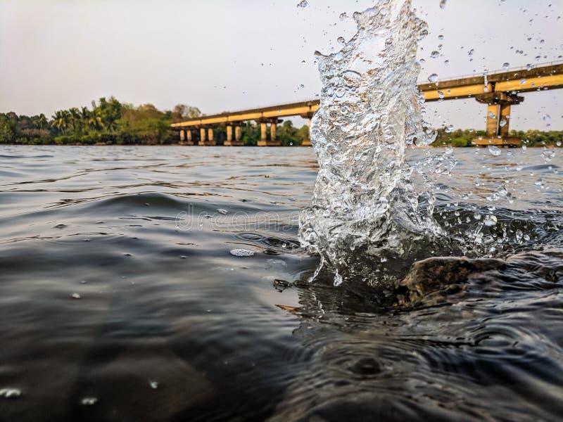 Time Lapse Photo Of Splashing Water royalty free stock photo