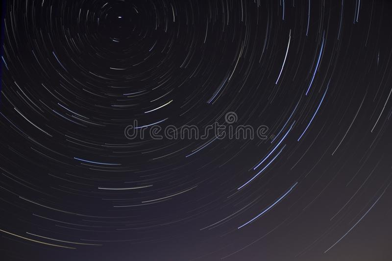 Time Lapse Photo of Stars on Night stock images
