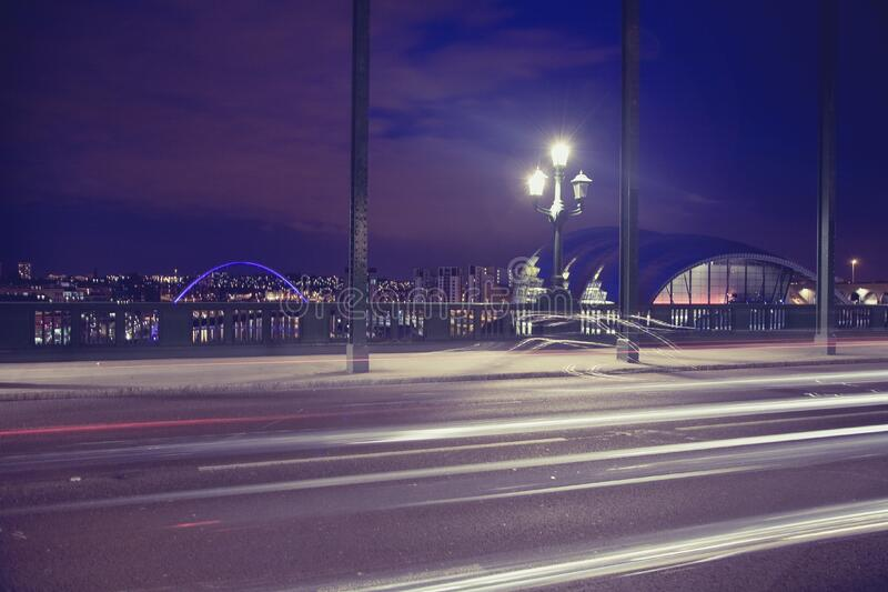 Time Lapse Photography Of A Bridge During Night Time Free Public Domain Cc0 Image
