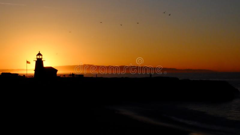 Time Lapse Photography of Lighthouse stock images