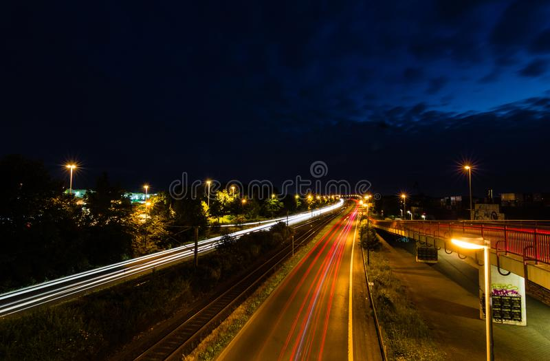Time Lapse Photography during Nighttime stock photos