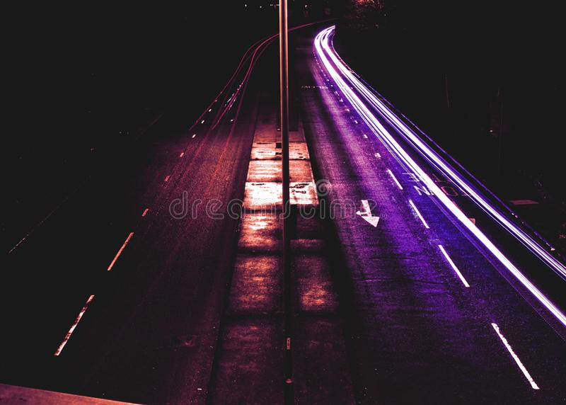 Time Lapse Photography of Roadway royalty free stock photos
