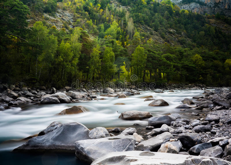 Time Lapse Photography Of Rocky River Surrounded By Trees Free Public Domain Cc0 Image