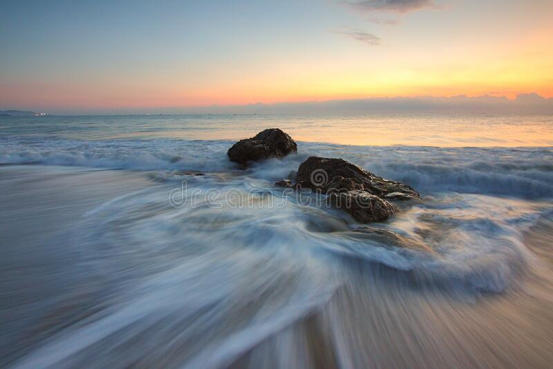 Time Lapse Photography of Sea Wave on Seashore during Daytime stock photo